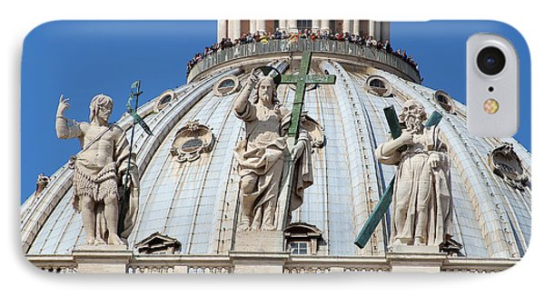 St Peter Dome In Vatican Phone Case by George Atsametakis
