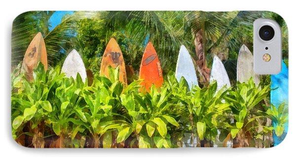 Surf Board Fence Maui Hawaii IPhone Case