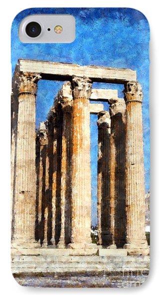 Temple Of Olympian Zeus  Phone Case by George Atsametakis