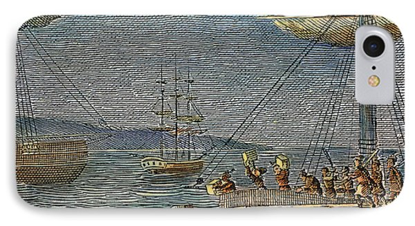 The Boston Tea Party, 1773 IPhone Case by Granger