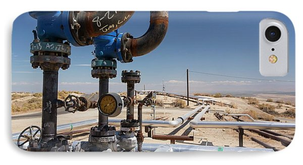 The Midway Sunset Oilfield In Taft IPhone Case by Ashley Cooper