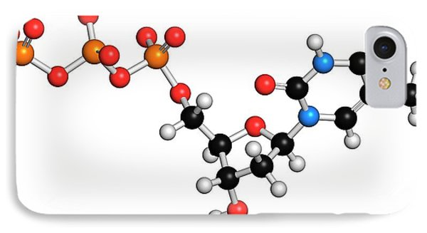 Thymidine Triphosphate Molecule IPhone Case by Molekuul