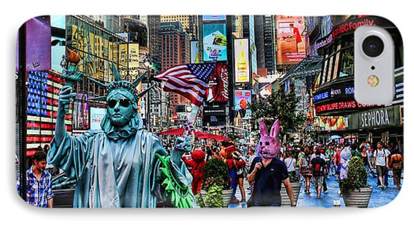 Times Square On A Tuesday Phone Case by Lee Dos Santos