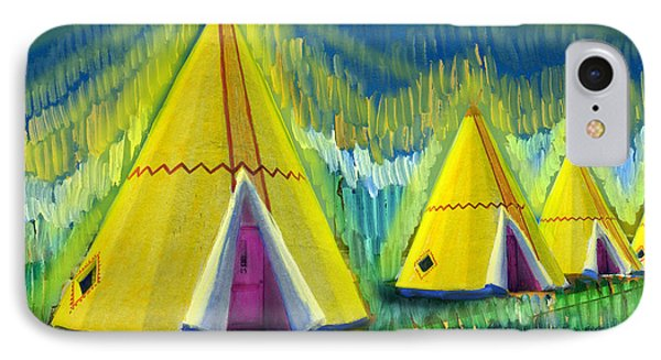 4 Tipis IPhone Case by Cindy McIntyre