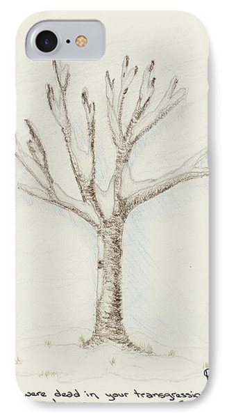 4 Trees-2nd Tree Winter IPhone Case