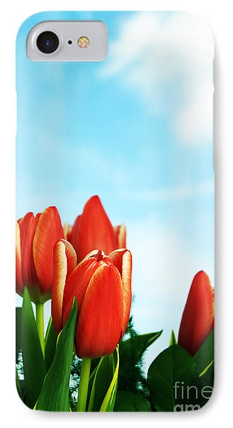 Tulips Background Phone Case by Michal Bednarek