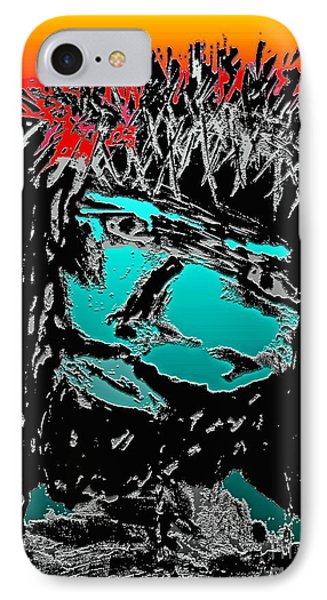 IPhone Case featuring the mixed media 4 U 4 Me by Everette McMahan jr