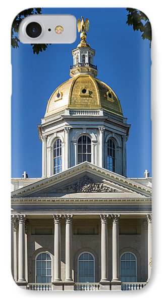 Usa, New Hampshire, Concord, New IPhone Case by Walter Bibikow
