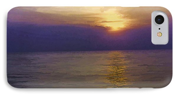 View Of Sunset Through Clouds IPhone Case by Ashish Agarwal