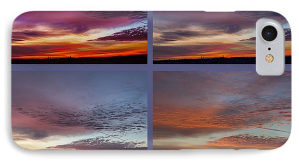 4 Views Of Sunrise 2 IPhone Case by Michael Waters