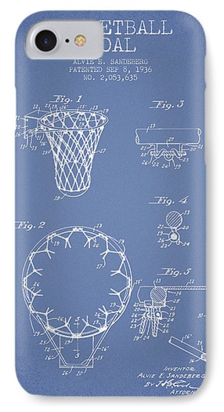 Vintage Basketball Goal Patent From 1936 IPhone Case