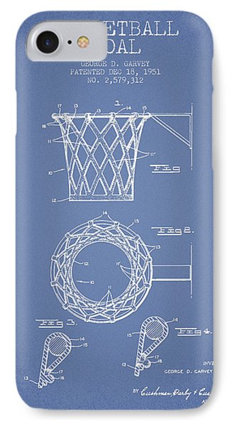 Vintage Basketball Goal Patent From 1951 IPhone Case
