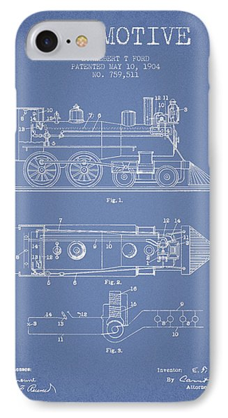 Vintage Locomotive Patent From 1904 IPhone Case