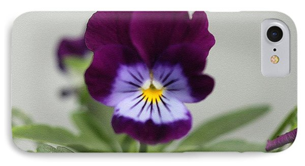 Viola Named Sorbet Plum Velvet Jump-up Phone Case by J McCombie
