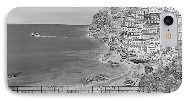IPhone Case featuring the painting Vista Su Positano by Loredana Messina