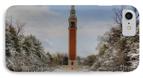 Winter At The Carillon IPhone Case by Kelvin Booker