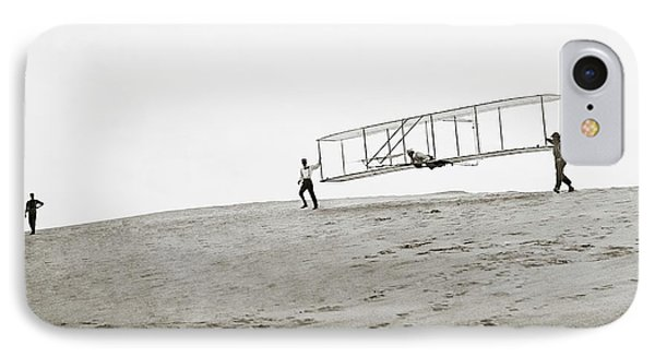 Wright Brothers Kitty Hawk Glider IPhone Case by Library Of Congress