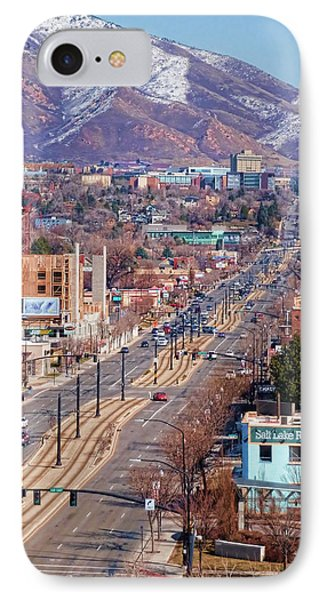 IPhone Case featuring the photograph 400 S Salt Lake City by Ely Arsha