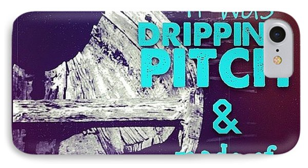 Dripping Pitch IPhone Case by Paige Edwards