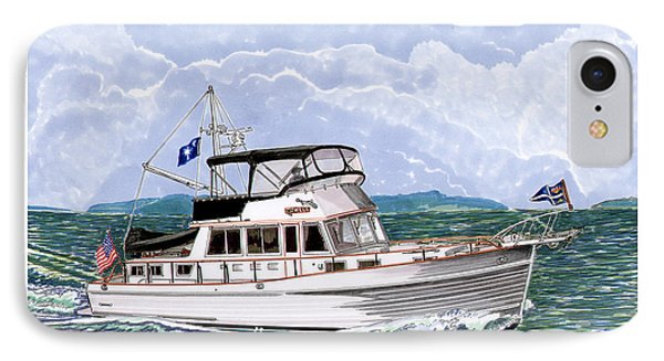 42 Foot Grand Banks Motoryacht IPhone Case