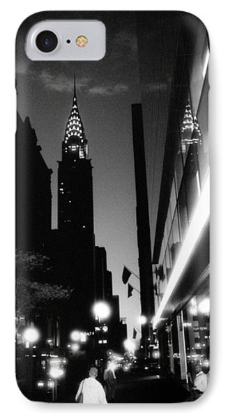 IPhone 7 Case featuring the photograph 42nd-street-dawn by Dave Beckerman