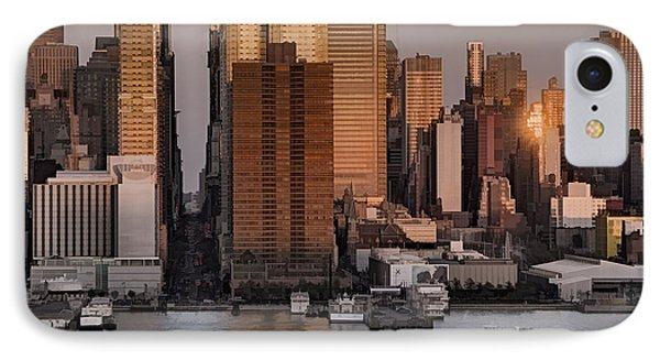 42nd Street Times Square IPhone Case by Susan Candelario