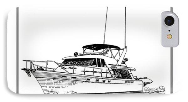 45 Foot Bayliner Motoryacht Phone Case by Jack Pumphrey