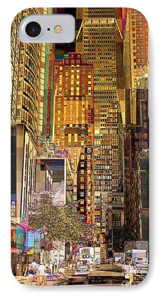 45th Street Redux Phone Case by Miriam Danar