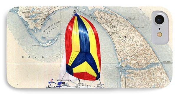 39 Beneteau Cape Cod Chart Art IPhone Case by Jack Pumphrey