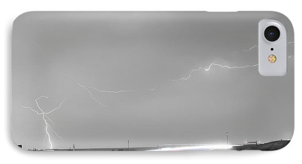 47 Street Lightning Storm Light Trails View Panorama Phone Case by James BO  Insogna