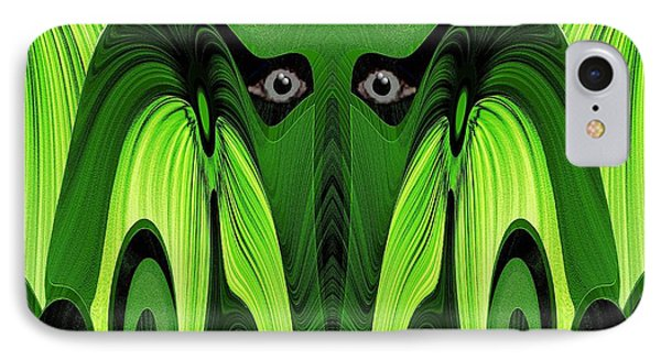 482 - Green Ghost Of The Woods Phone Case by Irmgard Schoendorf Welch