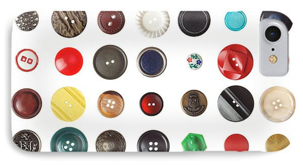 49 Buttons IPhone Case by Jim Hughes