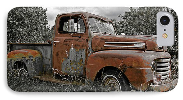 IPhone Case featuring the photograph '49 Ford Pick-up by Christopher McKenzie
