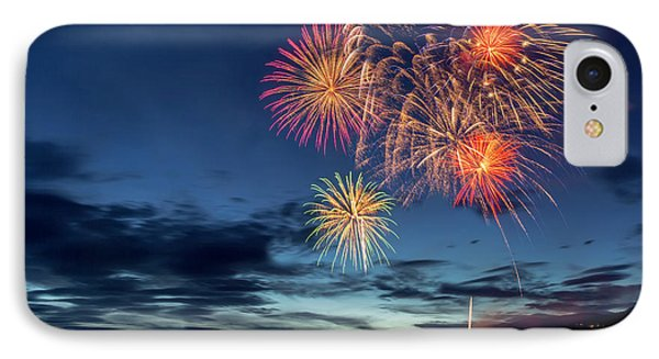 4th Of July Fireworks Celebration IPhone Case by Chuck Haney