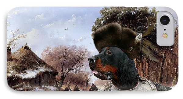 Gordon Setter Art Canvas Print IPhone Case by Sandra Sij