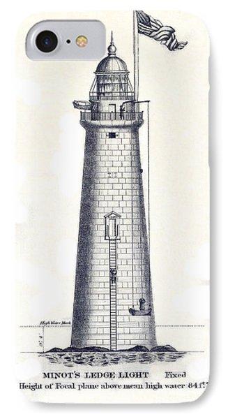 1852 Minot's Ledge Lighthouse IPhone Case