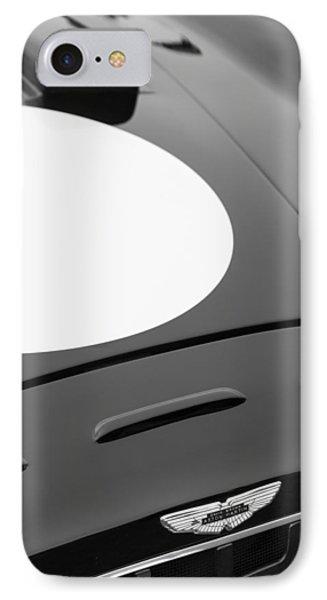 1952 Aston Martin Db3 Sports Hood Emblem Phone Case by Jill Reger