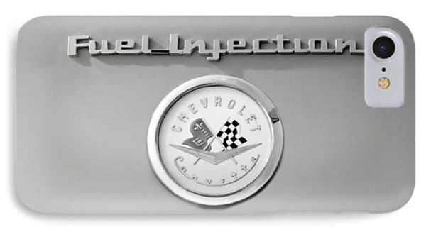 1957 Chevrolet Corvette Emblem IPhone Case by Jill Reger