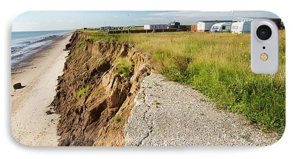 A Collapsed Coastal Road At Skipsea IPhone Case