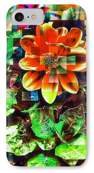 Abstract Flowers IPhone Case by Chris Drake
