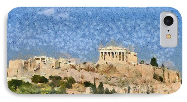 Acropolis In Athens IPhone Case by George Atsametakis