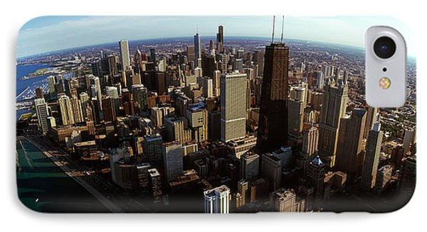 Aerial View Of A City, Chicago, Cook IPhone Case by Panoramic Images