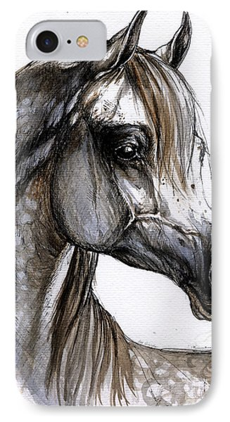 Arabian Horse Phone Case by Angel  Tarantella