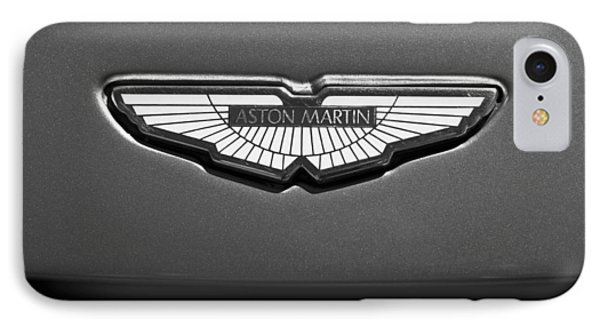 Aston Martin Emblem IPhone Case by Jill Reger
