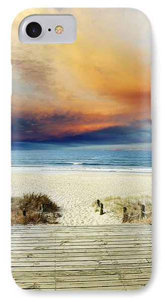 Beach View Phone Case by Les Cunliffe