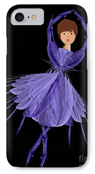 5 Blue Ballerina Phone Case by Andee Design
