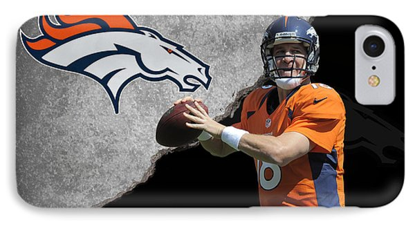 Broncos Peyton Manning IPhone Case by Joe Hamilton