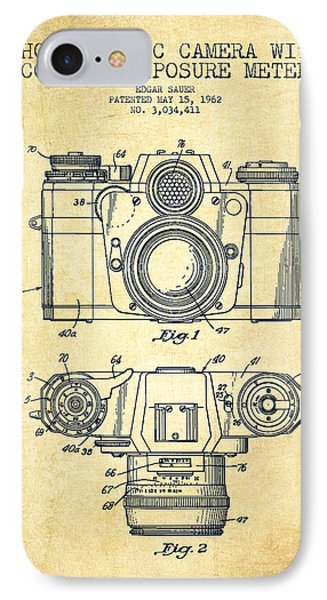 Camera Patent Drawing From 1962 IPhone Case