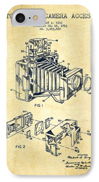 Camera Patent Drawing From 1963 IPhone Case by Aged Pixel