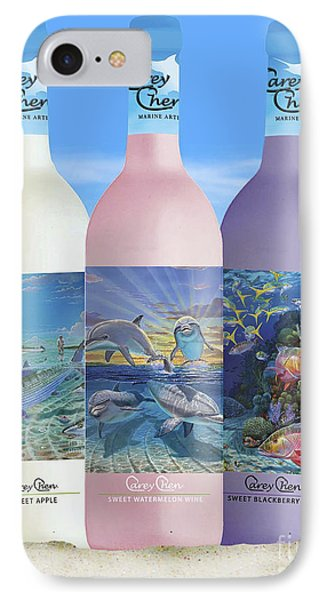 Carey Chen Fine Art Wines IPhone Case by Carey Chen